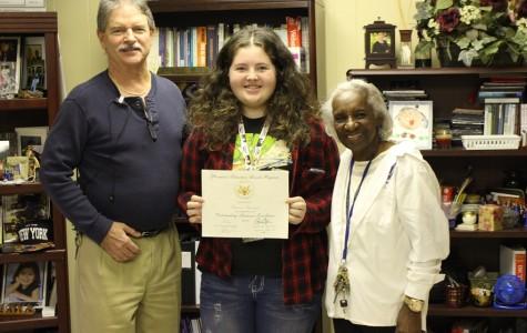 Shanon Steinmetz awarded academic honors from President Obama