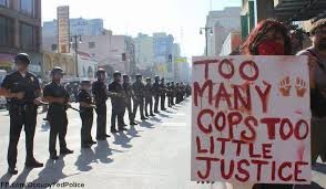 Protest against brutality.
