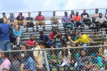 THE HURRICANES CROWD IS LOVING IT: At the Blue White Scrimmage, Friday May 29 at Inlet Grove High School