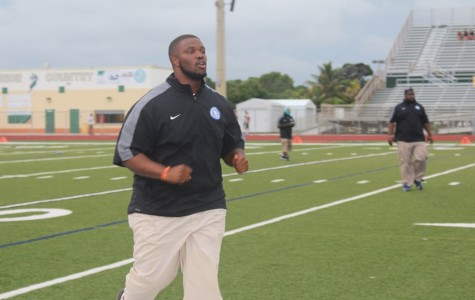 Coach Terry Bradden leading his Inlet Grove Hurricanes to success.
