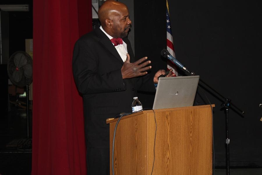 "DR. CATO T. LAURENCIN: The keynote speaker and specialist in Regenerative Engineering, advised students in the packed auditorium, ""You have to be courageous. You have to take chances to be successful in life."""