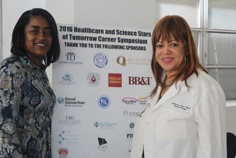 National Coalition of 100 Black Women: Dr. Catherine Lowe, right, and Tracy Shipp, chair and co-chair of the NCBW Health Committee.