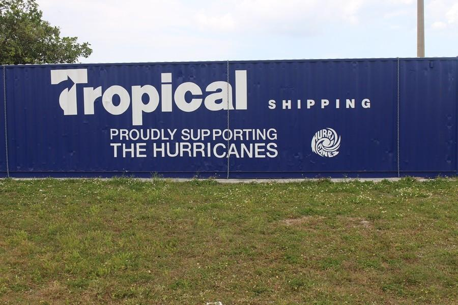 TROPICAL SHIPPING: Proudly supporting  Inlet Grove through the storm and heavy winds.