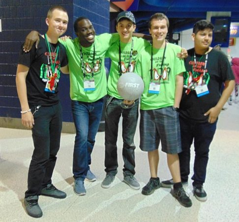 LET'S COMPETE: Inlet Grove's Robotic Team competed at the FIRST Robotic World Champions in St.Louis, Missouri last week and made it to the semi-finals which was said to be one of the tough divisions. The members (L-R) Edward Smith, Emmanuel Marcelin, the team's teacher sponsor, Grayson Grinner, Alex Cote and Ricardo Martinez went against teams from all around the world as more then 12 countries were represented at the event.