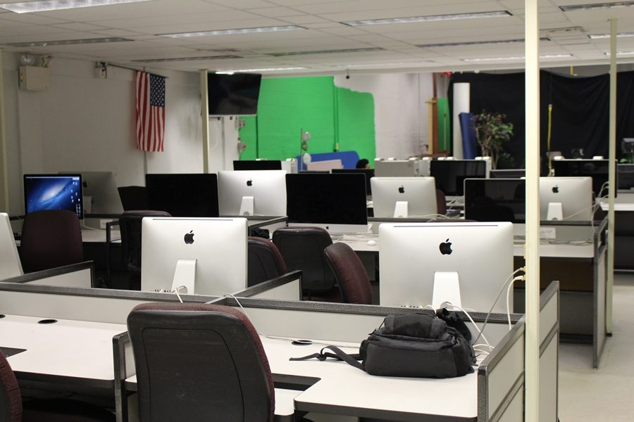 EDITING BAY: Where Mr. Razzas classes edits videos, does research, and has class discussions