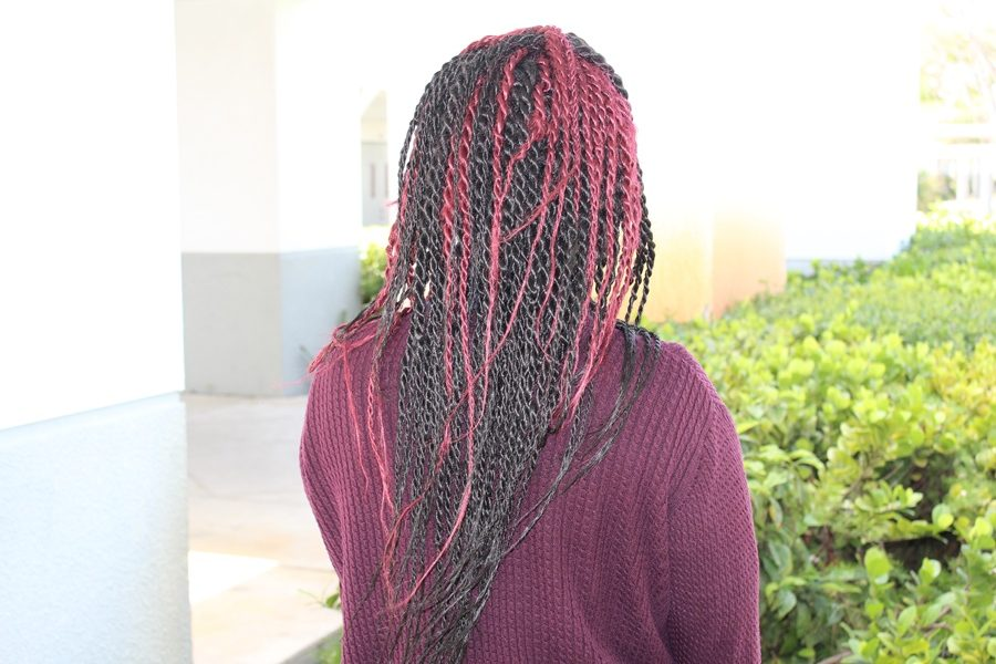 GUESSWHO: This girl enjoys matching her hair with her clothing.