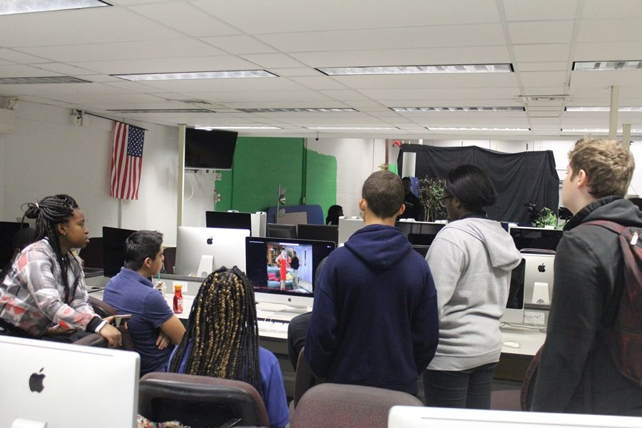 PLANNING: Students from Mr. Razzas  Industrial Communications  Class plan & watch scenes from sitcoms to reenact.