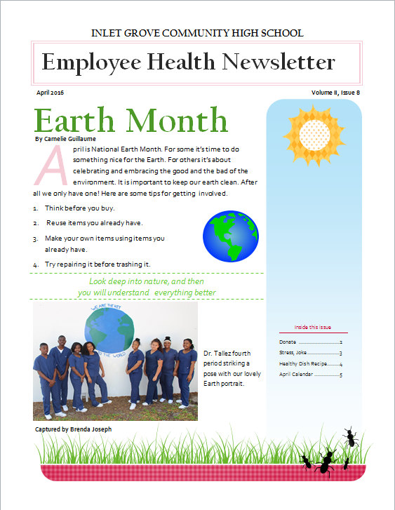 Grove publications: Health Newsletter