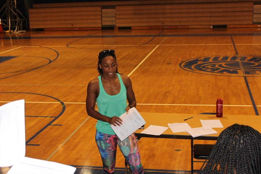 GIRLS TRACK TEAM: Coach Wright speaks to her future Track Stars .