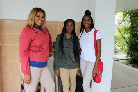 FRIENDS FOREVER: (from left) Jordae Cole, Pre-Law Academy; Janay Brewer, Culinary Academy; and Krishan Fritzgerald, Culinary, have known  each other since freshman year.