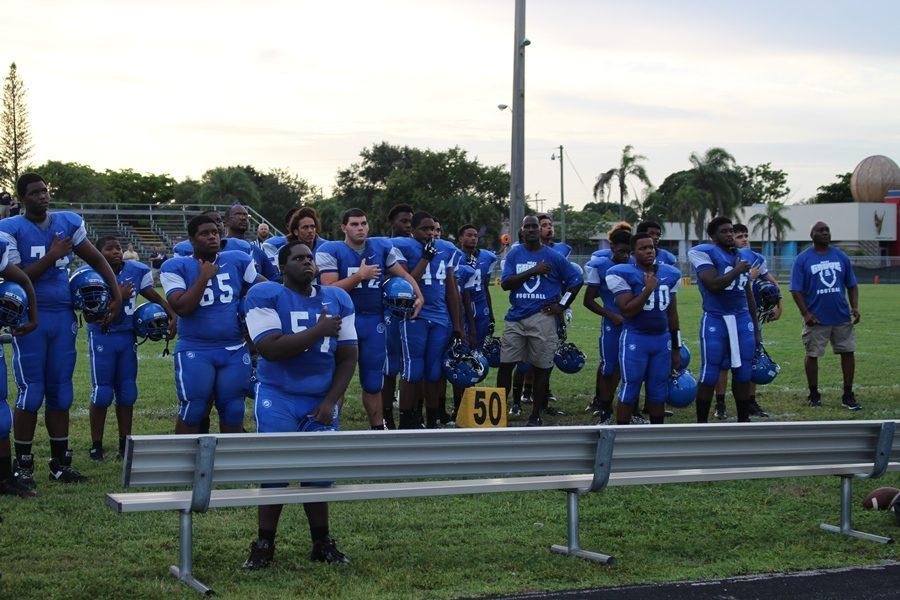 CANES GAME: Scenes from the football teams 82-0 home lost to Calvary Christian Academy.