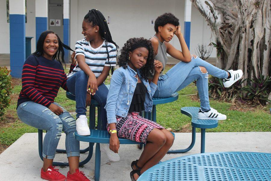 Trendsetters future go-getters Rose Courage, Jaquaisa Barthelmey Joanna Bein-Amie, Kennedi English