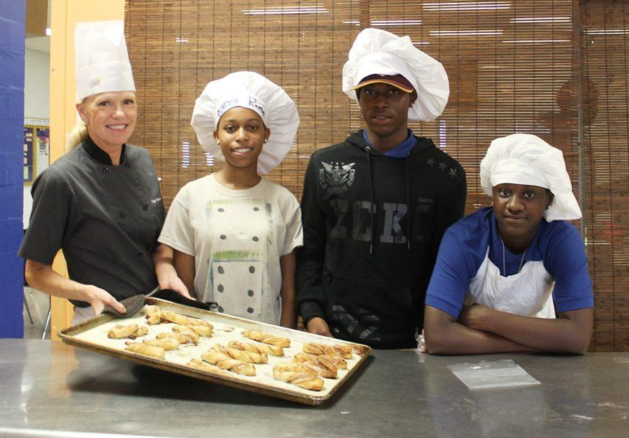 SWEET TREATS: Another good day for the freshmen Culinary class.