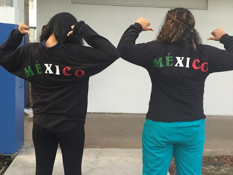 GET THE MESSAGE? Ashley Lopez and Karla Lopez, celebrating their Mexican heritage.