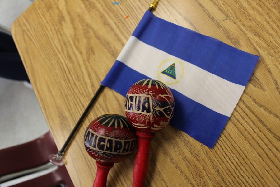 VIVA NICARAGUA: Ms. Companioni's 4th Period Spanish class demonstrated a traditional parade from Nicaragua on Sept. 26,  as they walked the halls chanting,