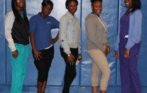 GIRLS BASKETBALL: Think you've got what it takes to join the 2016 team? Then come out and start practicing with the girls from last year: (from left) Toni Andrews, Carlteria Phillips, Kathleen Morvan, Neahani Abreu and Jessica Dominique. Practice is Tuesdays and Thursdays, 3:10 p.m. - 5:00 p.m.