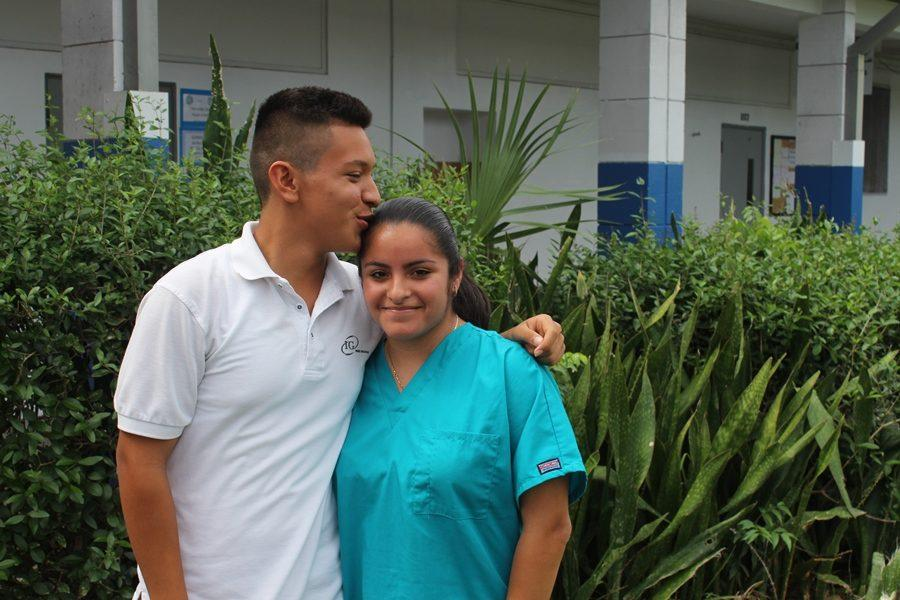 We are forever: Oniver Castro and Maria Murillo; They been together since junior year.