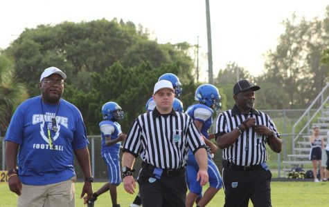 EXCEPT FOR THE SCORE: The Hurricanes family enjoyed a fine fall evening as the football team hosted North Broward Prep. Even the 63-0 loss did not dampen the Canes' spirit.
