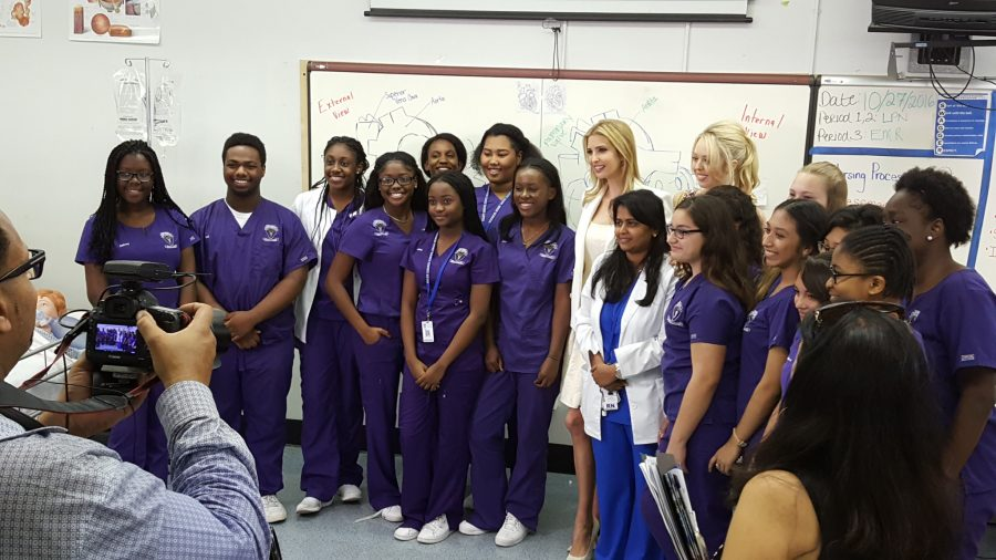 SPECIAL GUEST: The daughter of Republican presidential candidate Donald Trump talked with Medical Academy students and staff about charter school success.