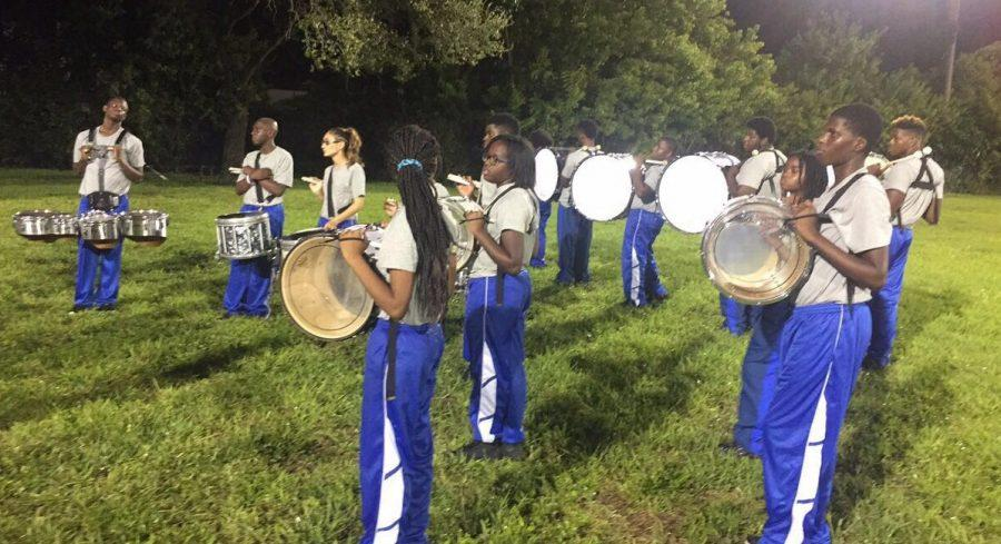 DRUMLINE BATTLE: The Canes challenged Royal Palm High School during Palm Beach Lakes High Schools Homecoming Sept. 30