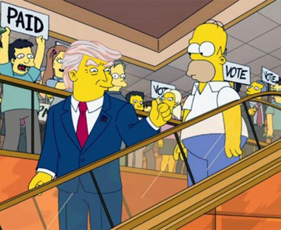 The simpsons predicted Donald Trumps Presidency in 2000