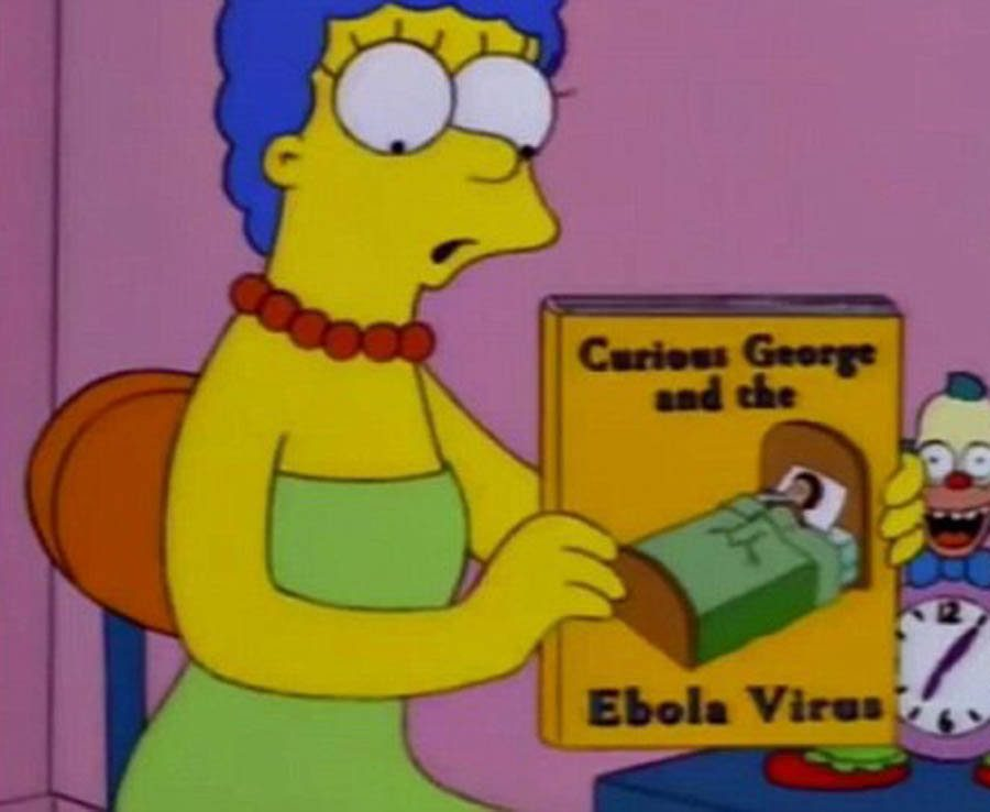 Marge predicted the Ebola virus breakout