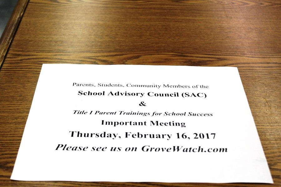 THE+WORK+CONTINUES%3A+School+Advisory+Council+President+Judith+Lawrence+welcomes+all+to+the+next+meeting+Feb.+16.