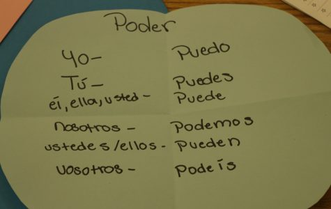 NEW WAYS: In her Spanish classes Ms. Campanioni encourages students to learn in creative ways.