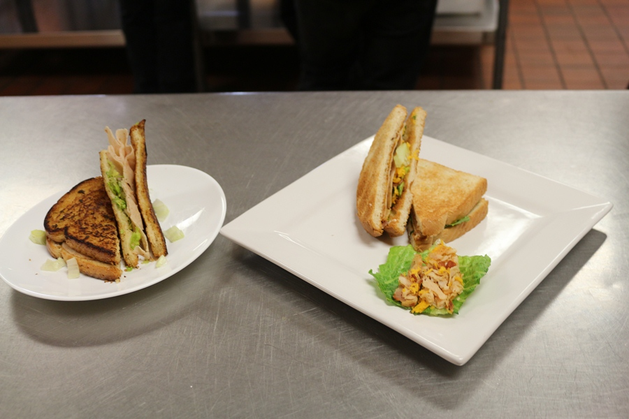 PUT TO THE TEST: Chef Newman's 3rd period class recently was challenged to create a sandwich with the knowledge of what makes a perfect sandwich (the type of bread, spread, toppings, and the filling).