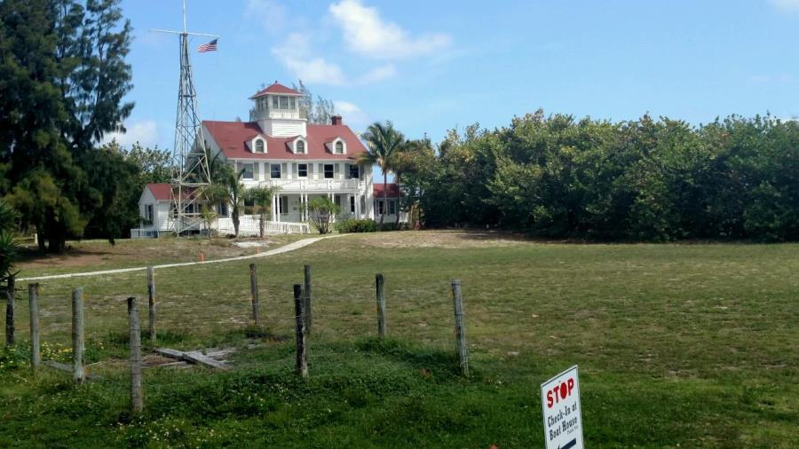 The Coast Guard house on Peanut Island.
