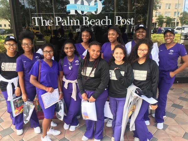 SUN SAFETY: Students Against Melanoma members attended the annual SAMposium at the Palm Beach Post on Saturday, Oct. 21. The event helps to kick off the year as club members help with the promotion of sun safety tips and practices.
