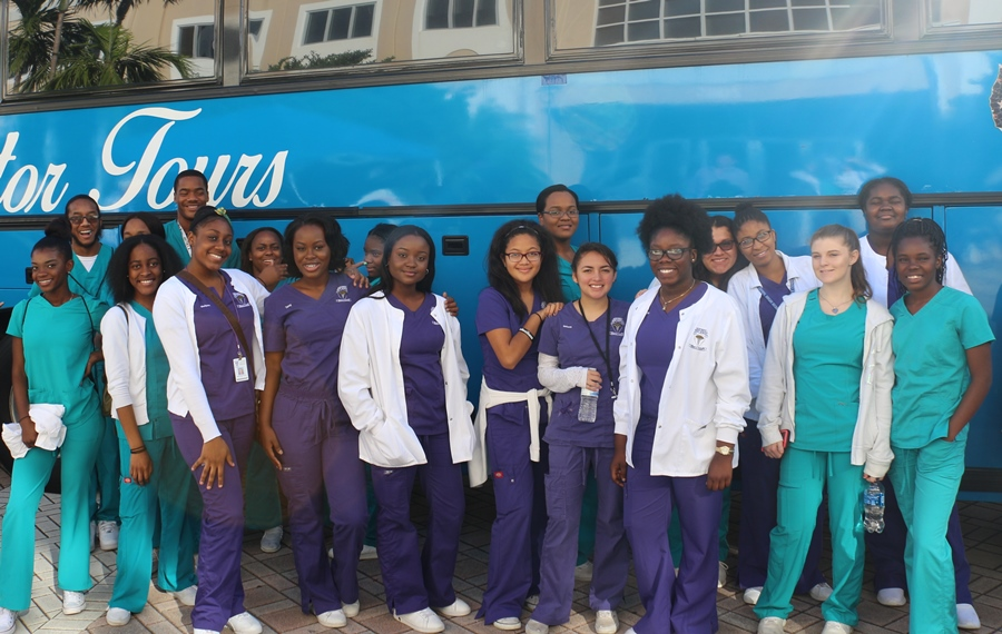 KEISER UNIVERSITY: Junior and senior Medical  Academy students got to visit the West Palm Beach campus, and learn about some of the programs and benefits the school had to offer.