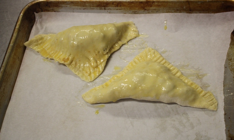WILL IT WORK: One group in Chef Newmans first period class experimented by making Beef empanadas to see if they would work for teacher lunches on Thursday. This was before it went into the oven to bake.