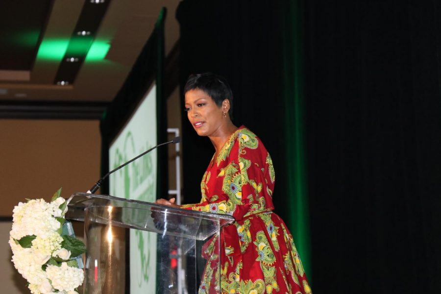 TAMRON HALL: The award-winning journalist  was the guest speaker at the Links' 37th White Rose Luncheon Dec. 4. The Links is an international non-profit organization that celebrates friendship and service, and raises money for scholarships. Hurricane students and staff -- including CEO Dr. Emma Banks, Vice Principal Ms. Pientka, and former Pre-Law and Debate instructor Lonnie Martens -- also attended.