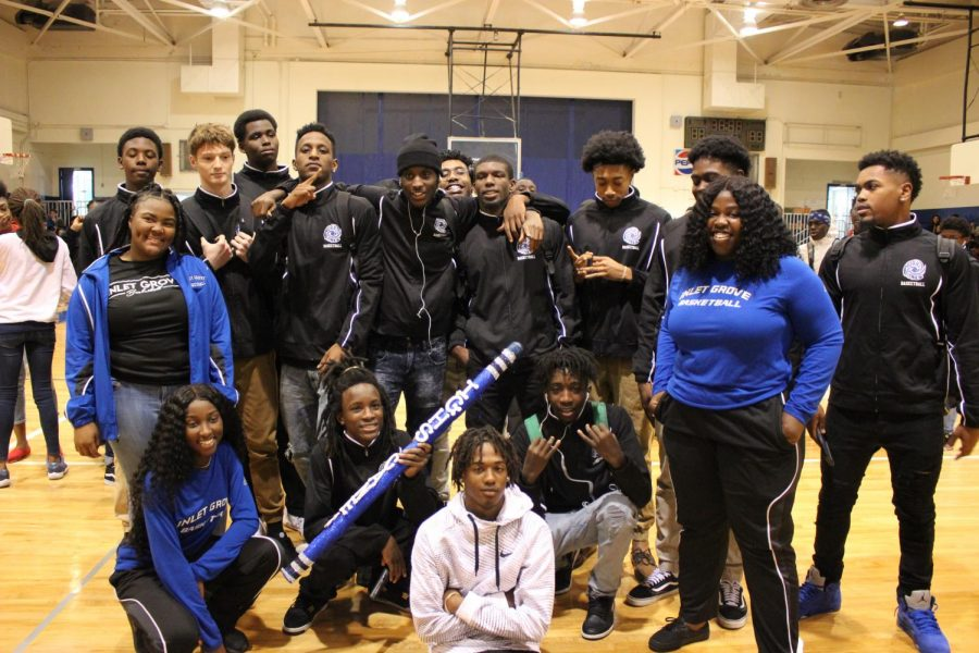 Making the hurricane winds swirl as Inlet Grove congratulates and pumps up their various athletic teams with tremendous amounts of school spirit and support.