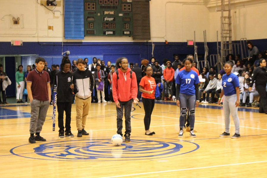 ATHLETIC+AMUSEMENT%3A+Students+and+staff+gathered+for+the+first+Pep+Rally+of+the+year+before+the+varsity+basketball+squad%27s+big+game%2C+Friday%2C+Jan.+19.