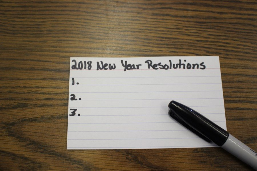 RESOLUTIONS FOR 2018: Achieve goal from 2017.