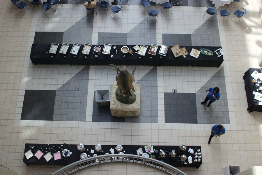 LOOKING DOWN: Another perspective in the Don Taft building.
