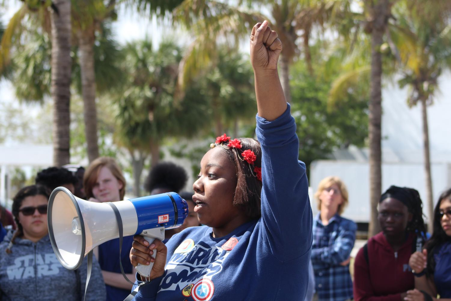 RISE UP: Hurricanes call for increased gun control during a walkout honoring the victims and survivors of the Marjory Stoneman Douglas High School tragedy, in which a shooter killed 17 students and staff Feb. 14.