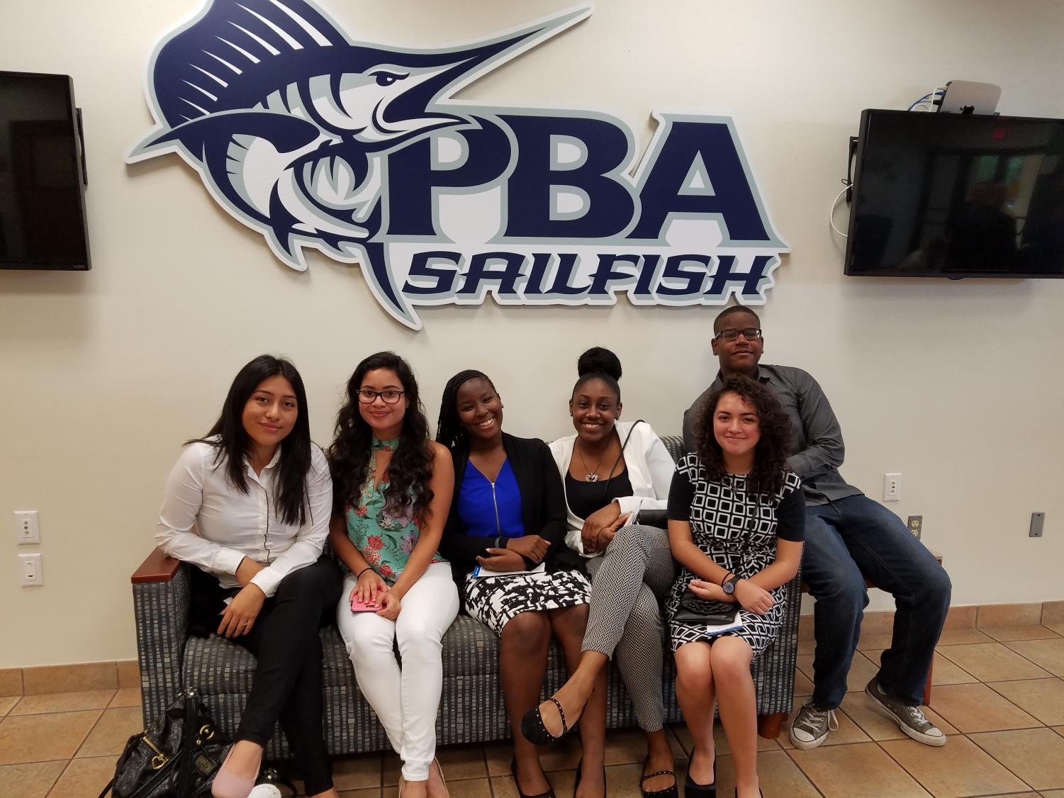 OUTSTANDING: To be nominated for the Pathfinder High School Scholarship Award is a major achievement. It applies to this year's Hurricane nominees, shown after completing their interviews at Palm Beach Atlantic University March 7: (from left) Deilyn Mendez-Lopez, Victoria Villalba, Nondiana Emmanuel, Madyson Roye, Rebeca Reyes and Michael Andre. Not shown: Jordan Hall and Andres Venegas. Next comes the annual Pathfinder Awards Ceremony, May 17 at the Kravis Center.