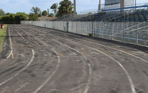 IN PIECES: Inlet's track field is in the process of being renovated over the summer so attending students can come back to a NEW track field in August 2018.