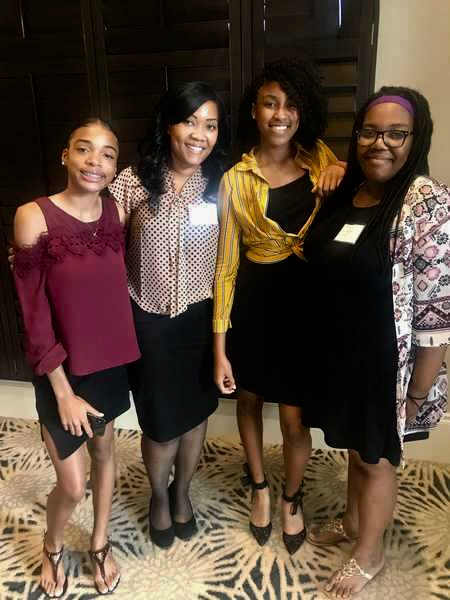 MEDICAL ON THE ROAD:  A few medical students, accompanied by medical teacher Mrs. Paramore, went to the annual T. Leroy Jefferson Medical Society Members lunch.