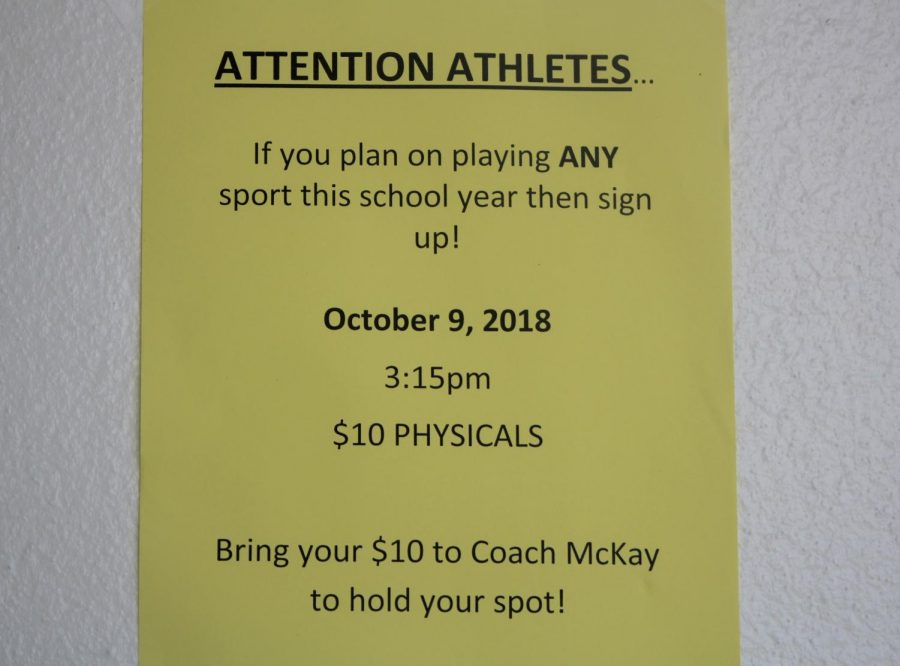 THE DOCTOR IS IN: Plan on joining a sports team at Inlet? Physicals will be done  Oct. 9, 2018 at 3:15 p.m. for $10. See Coach McKay to reserve a spot.
