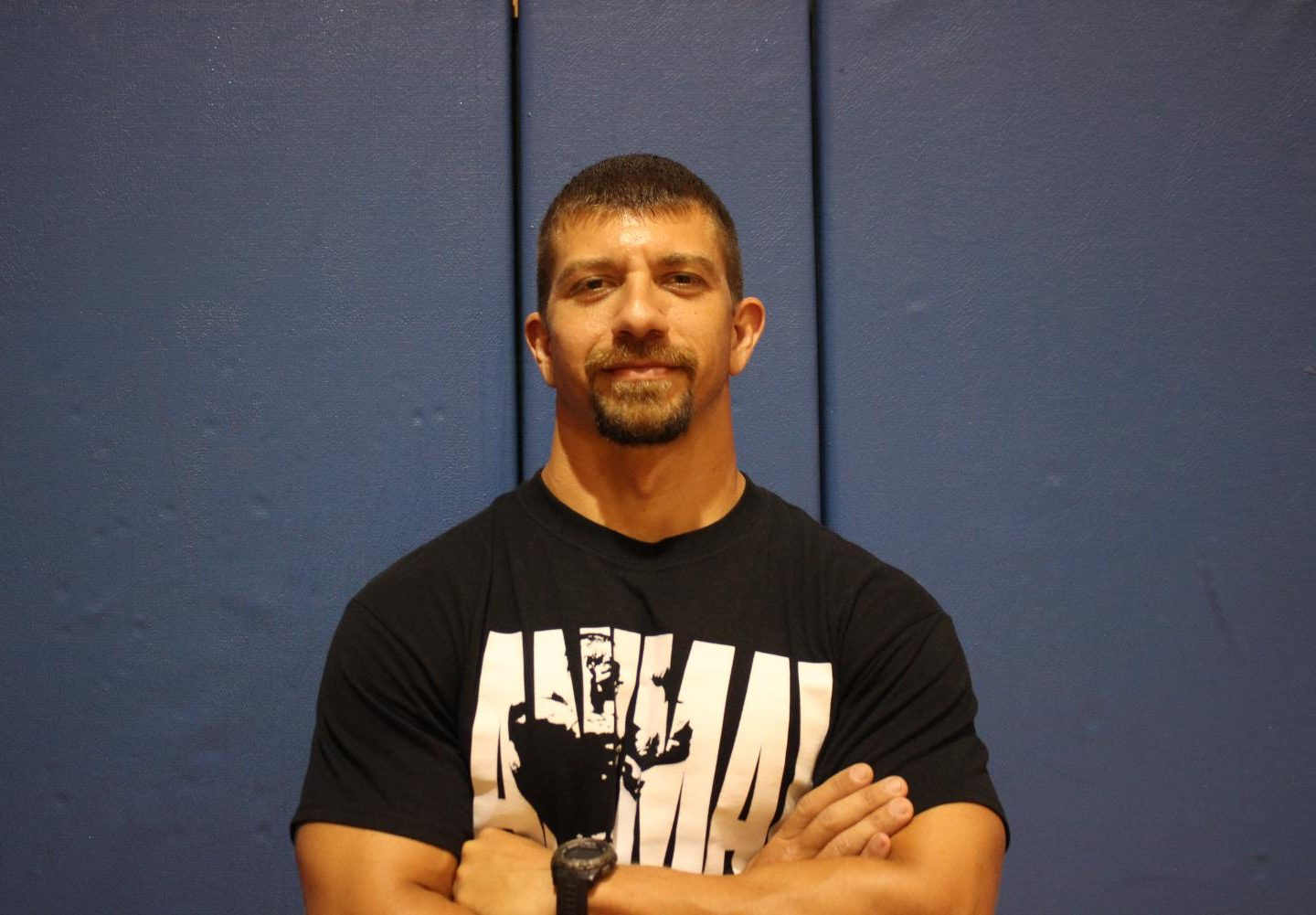 "MR. PHYSICAL: Coach Fritz is the Physical Education instructor at Inlet Grove. He says, ""Exercise can resolve many health issues that we have."""