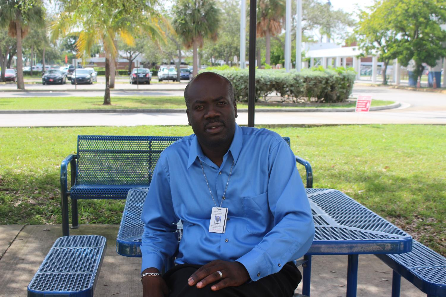 CULTURE CRAZY: Mr. Dorvil is both the ESOL contact person and sponsor of the ESOL club at Inlet.