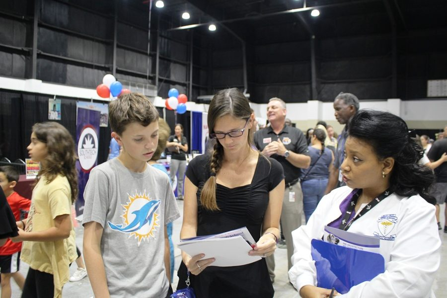 EXHIBITION%3A++Student+and+staff+attended+the+annual+showcase+of+schools+at+the+South+Florida+Fairgrounds%3B+where+they+represented+and+advertised+the+school+on+Oct.16.
