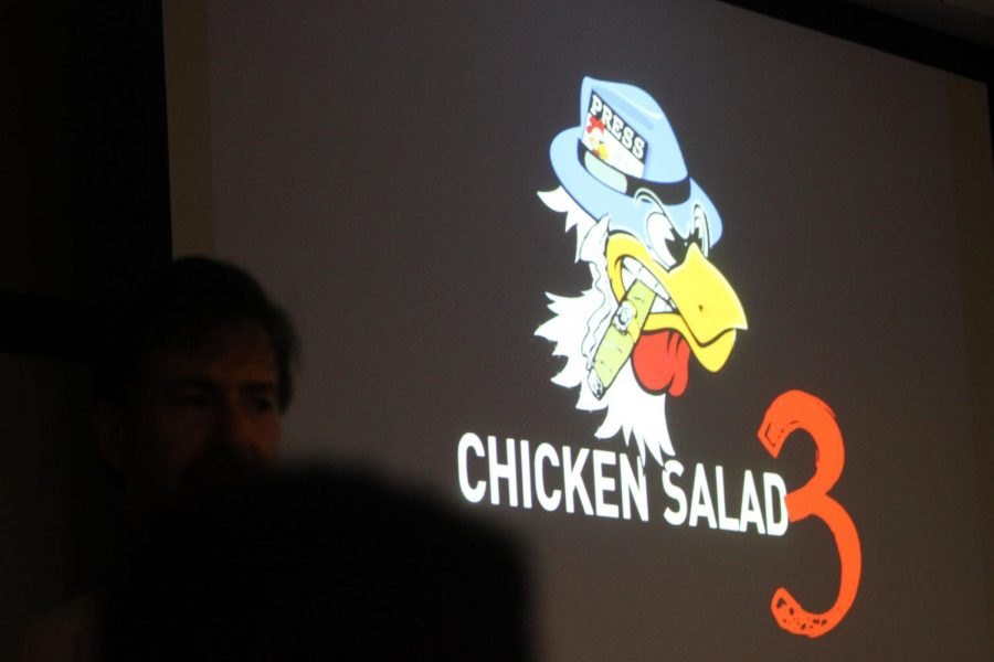 CLUCK CLUCK: Journalist Michael Koretzky judges and redesigns student newspapers in a presentation entitled