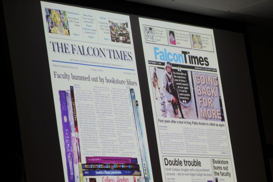 Before (left) and after (right) Koretzky changed the student newspaper.