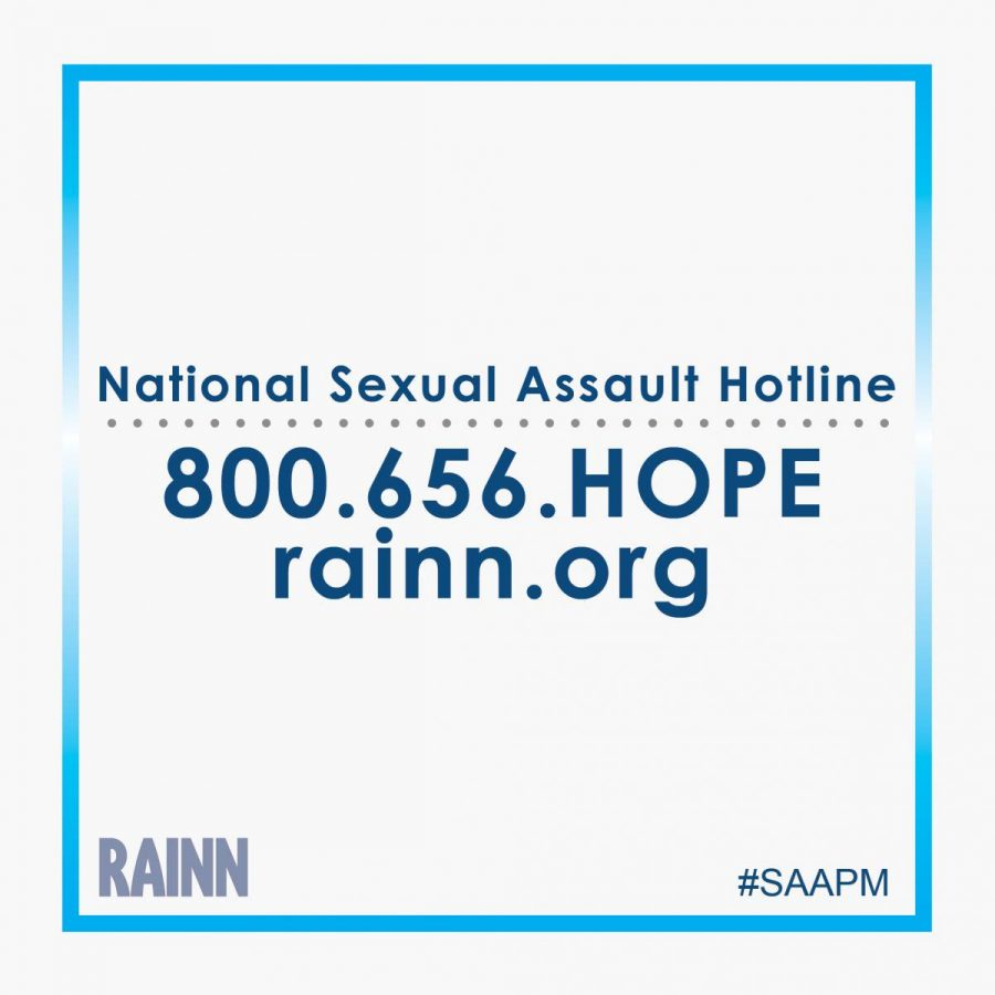 THERES HOPE: If you are a victim of sexual assault and you need someone to talk to, please call the sexual assault hotline. (800) 656-4673.
