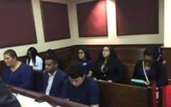ORDER IN THE COURT: The pre-law program had a chance to go to court, they were accompanied by Pre-law teacher Ms. Bierer.